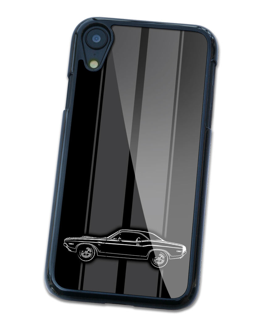 1970 Dodge Challenger RT Scat Pack Coupe Bulge Hood Smartphone Case - Racing Stripes