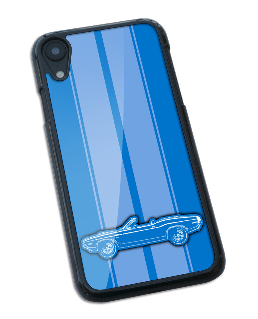 1970 Dodge Challenger RT Scat Pack Convertible Shaker Hood Smartphone Case - Racing Stripes