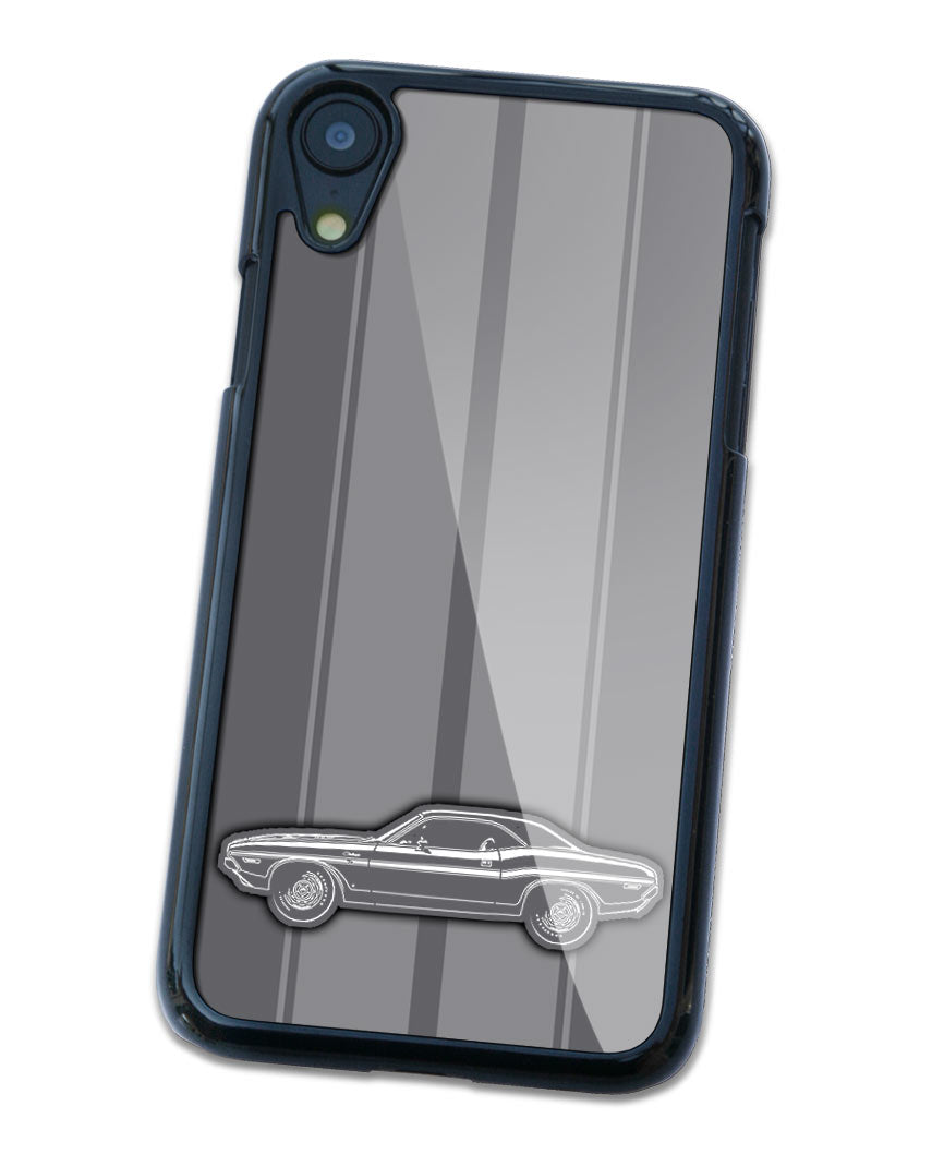 1970 Dodge Challenger RT with Stripes Coupe Bulge Hood Smartphone Case - Racing Stripes