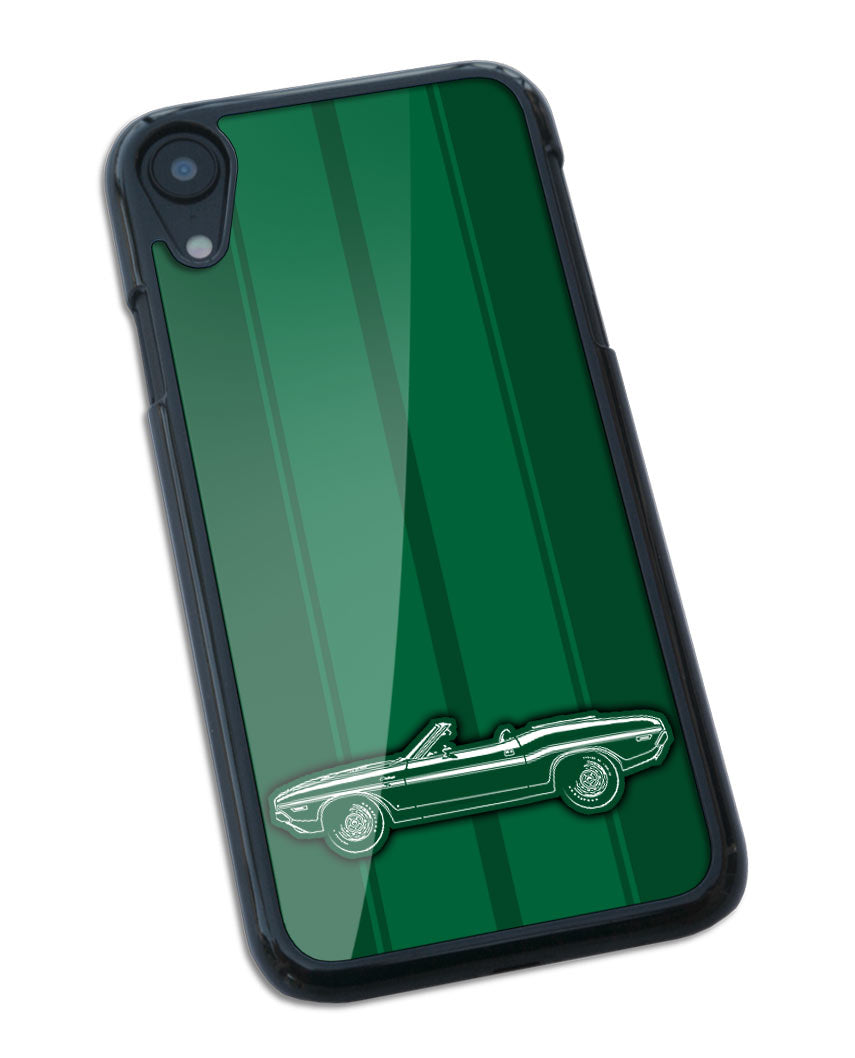 1970 Dodge Challenger RT with Stripes Convertible Bulge Hood Smartphone Case - Racing Stripes