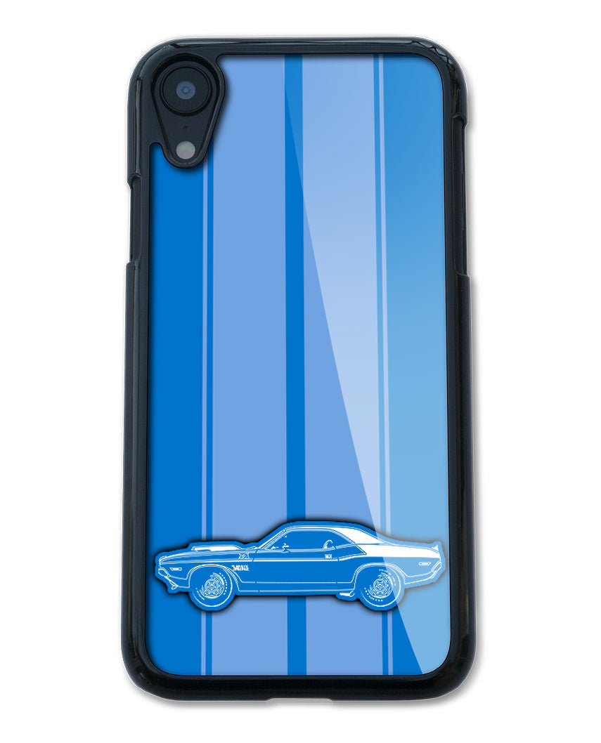 1970 Dodge Challenger TA 340 Coupe Smartphone Case - Racing Stripes