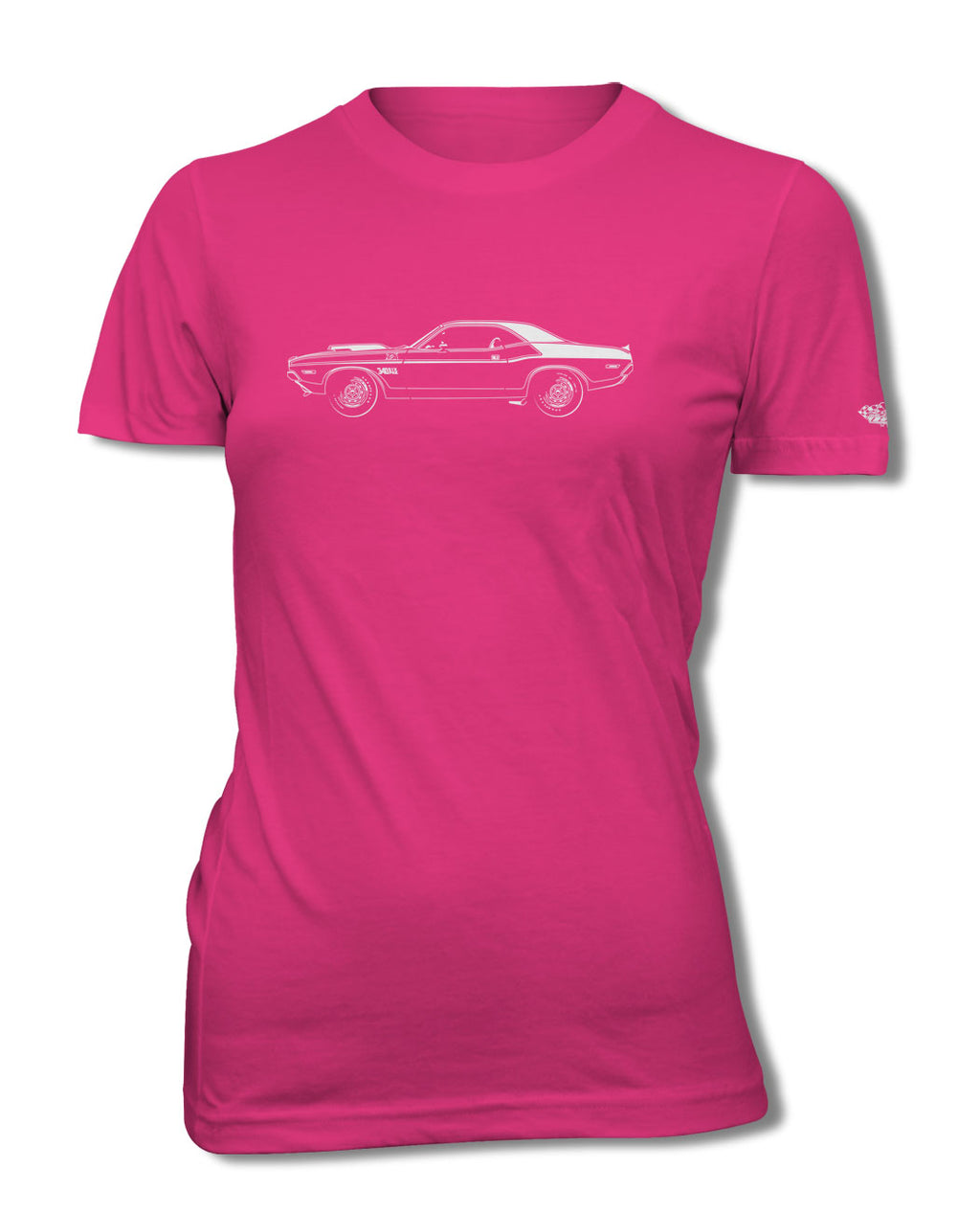 1970 Dodge Challenger TA 340 Coupe T-Shirt - Women - Side View