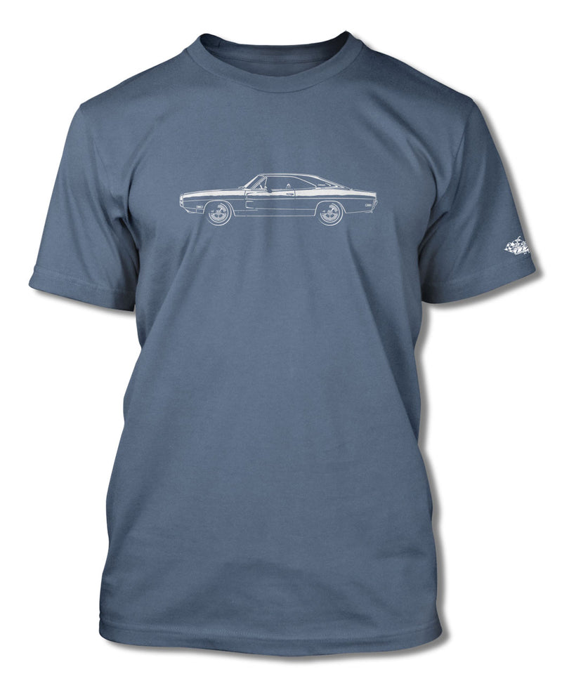 1970 Dodge Charger Base Coupe T-Shirt - Men - Side View