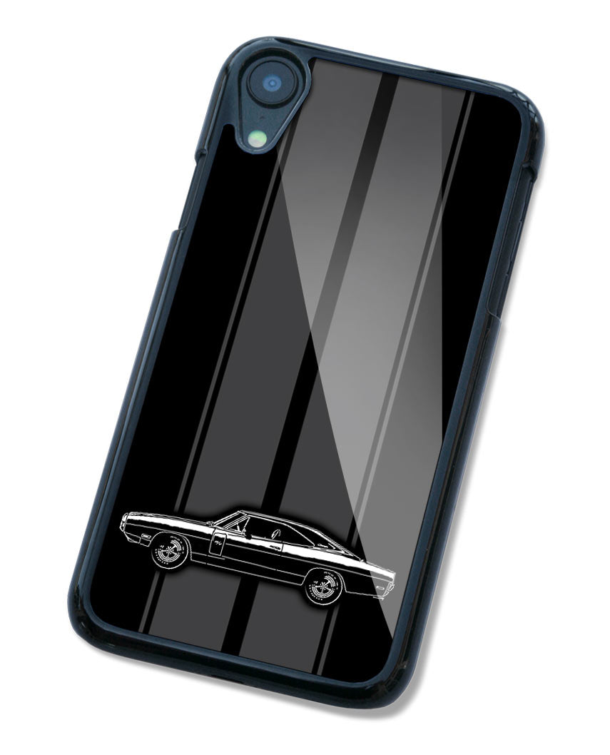 1970 Dodge Charger RT Coupe Smartphone Case - Racing Stripes