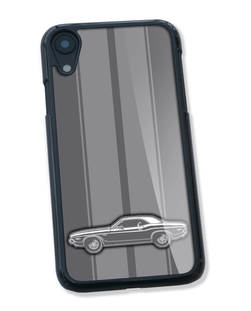 1971 Dodge Challenger Base Coupe Smartphone Case - Racing Stripes