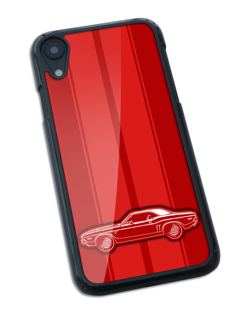 1971 Dodge Challenger RT Coupe Bulge Hood Smartphone Case - Racing Stripes