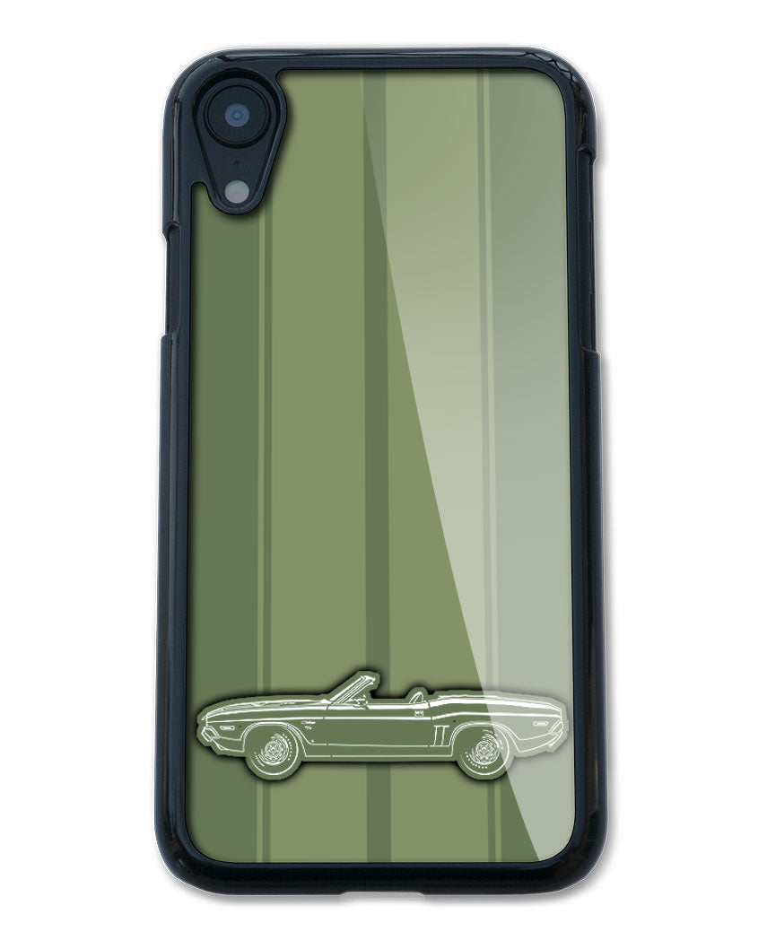 1971 Dodge Challenger RT Convertible Bulge Hood Smartphone Case - Racing Stripes