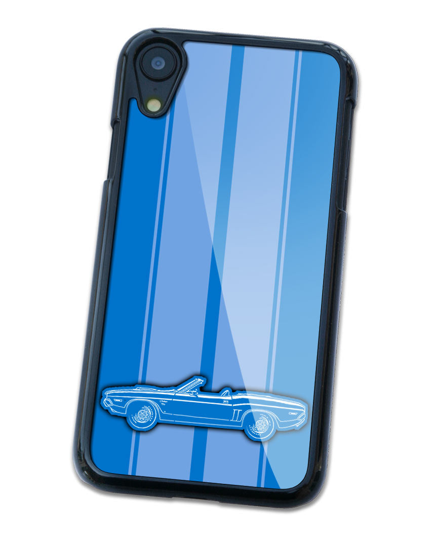 1971 Dodge Challenger RT Convertible Shaker Hood Smartphone Case - Racing Stripes