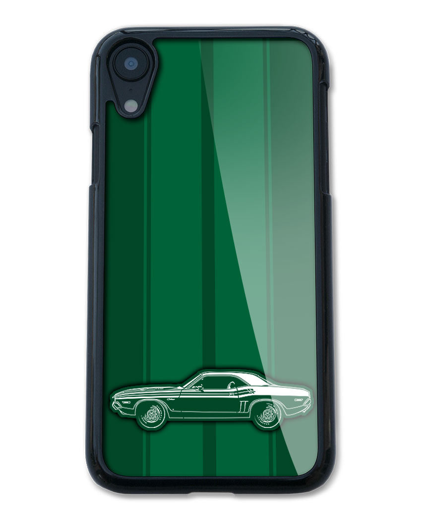 1971 Dodge Challenger RT with Stripes Coupe Bulge Hood Smartphone Case - Racing Stripes