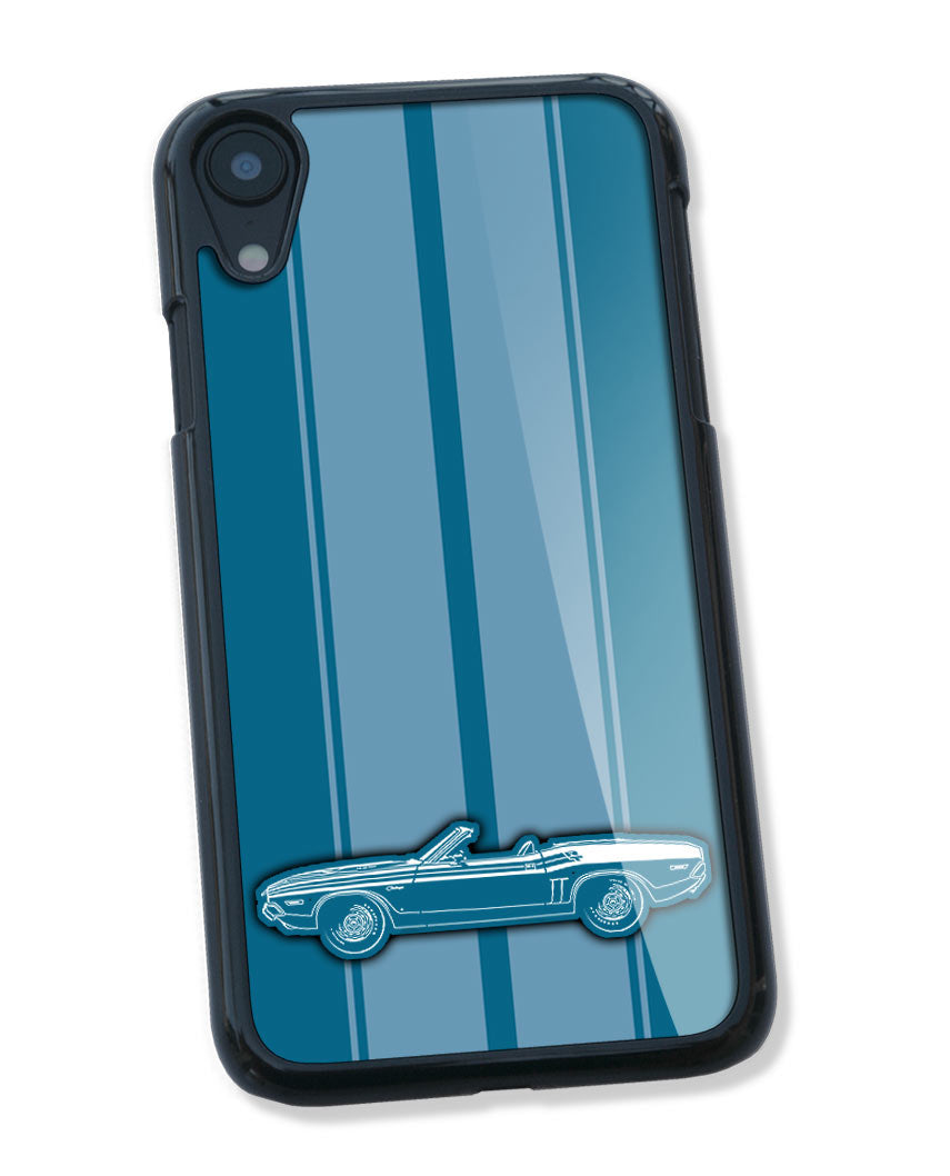 1971 Dodge Challenger RT with Stripes Convertible Bulge Hood Smartphone Case - Racing Stripes