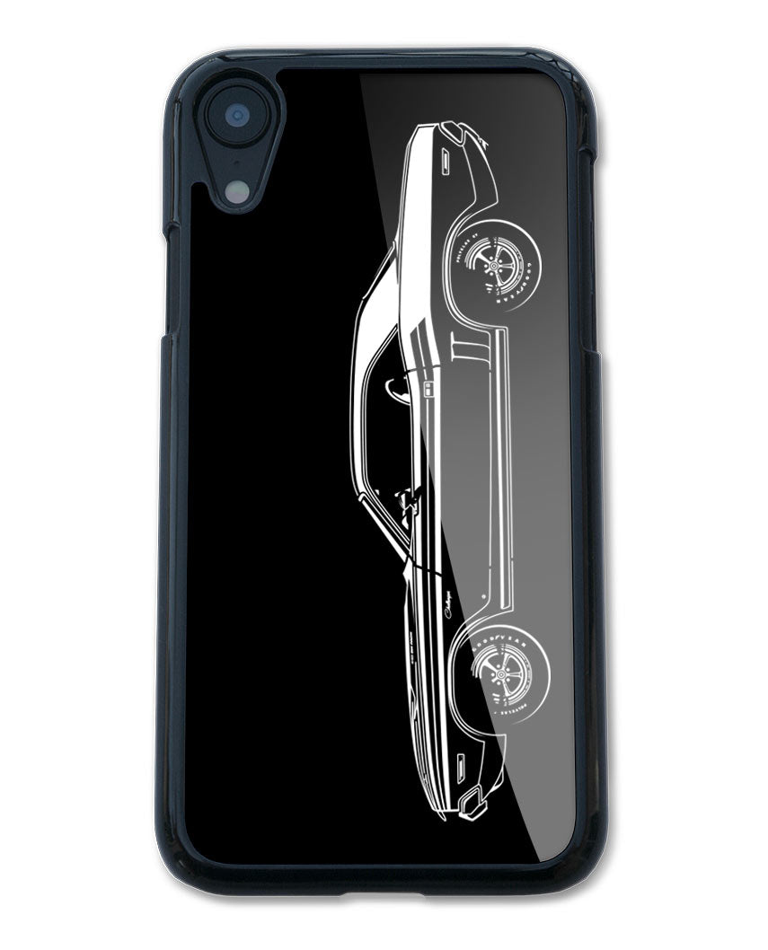 1971 Dodge Challenger with Stripes Coupe Smartphone Case - Side View