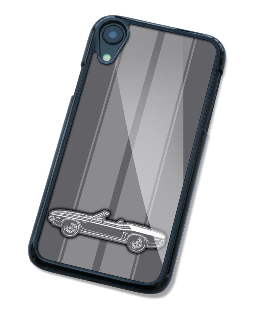 1971 Dodge Challenger with Stripes Convertible Smartphone Case - Racing Stripes