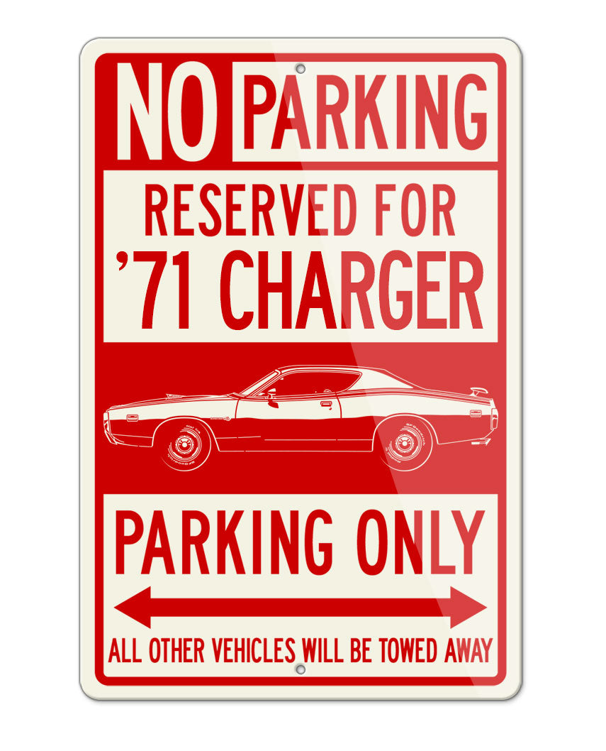 1971 Dodge Charger Super Bee Coupe Parking Only Sign