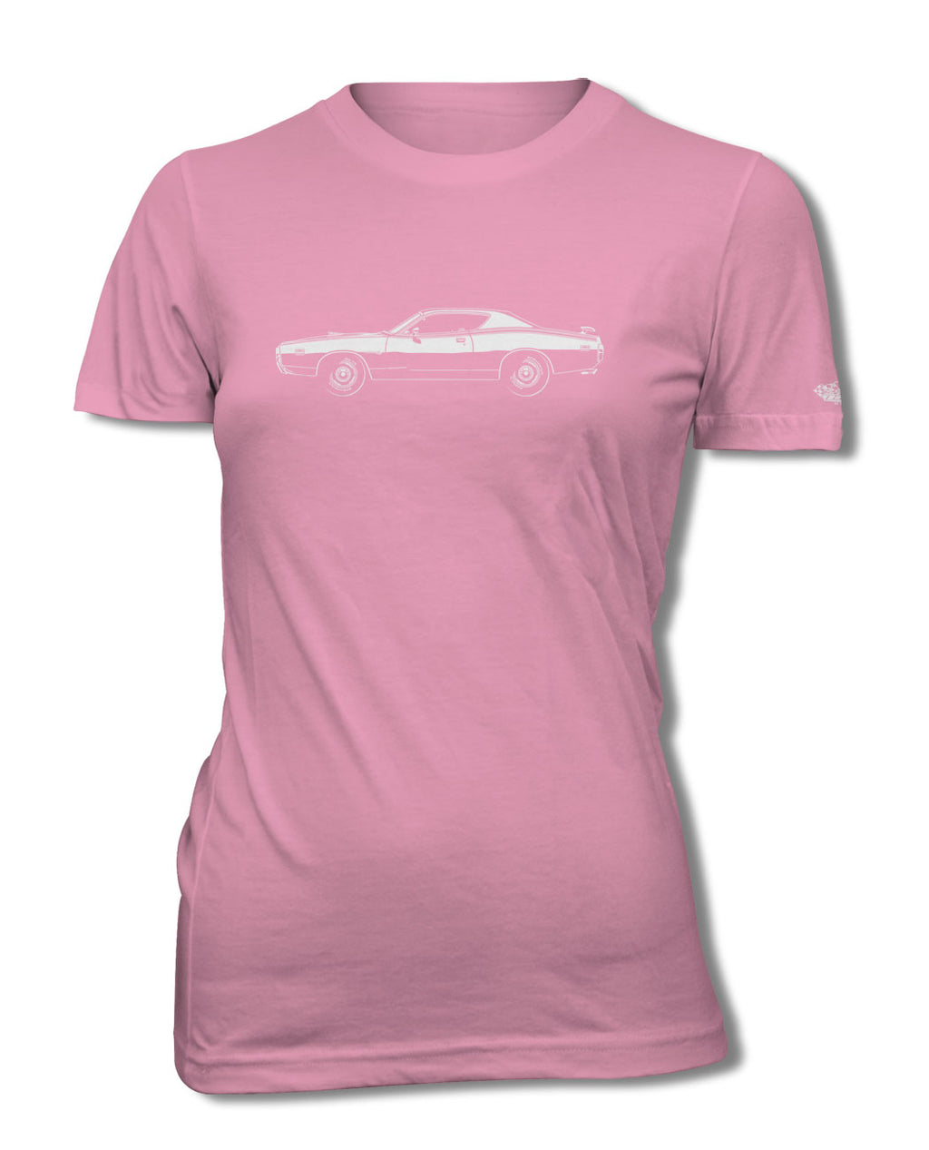 1971 Dodge Charger Super Bee Coupe T-Shirt - Women - Side View