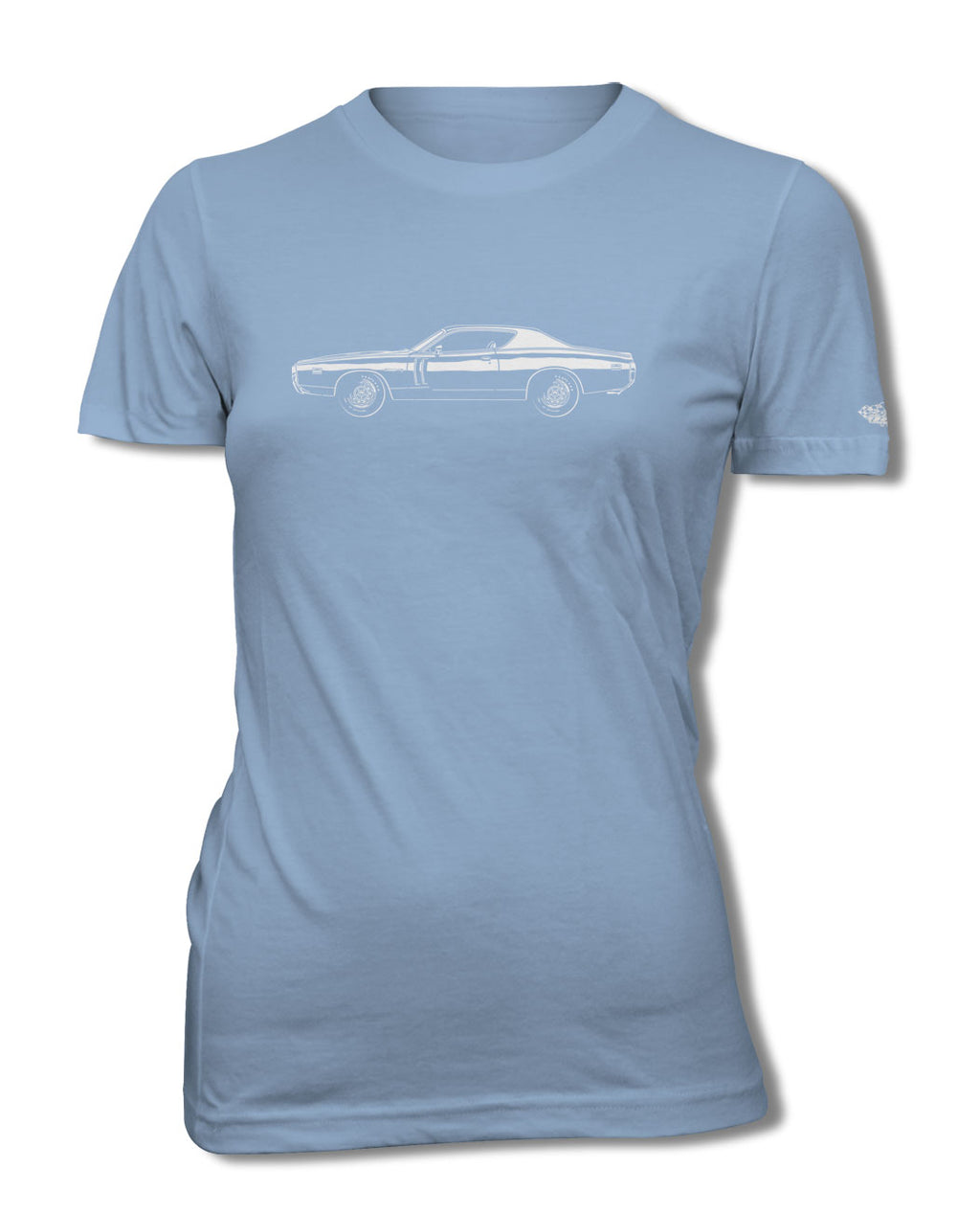 1971 Dodge Charger RT Coupe T-Shirt - Women - Side View