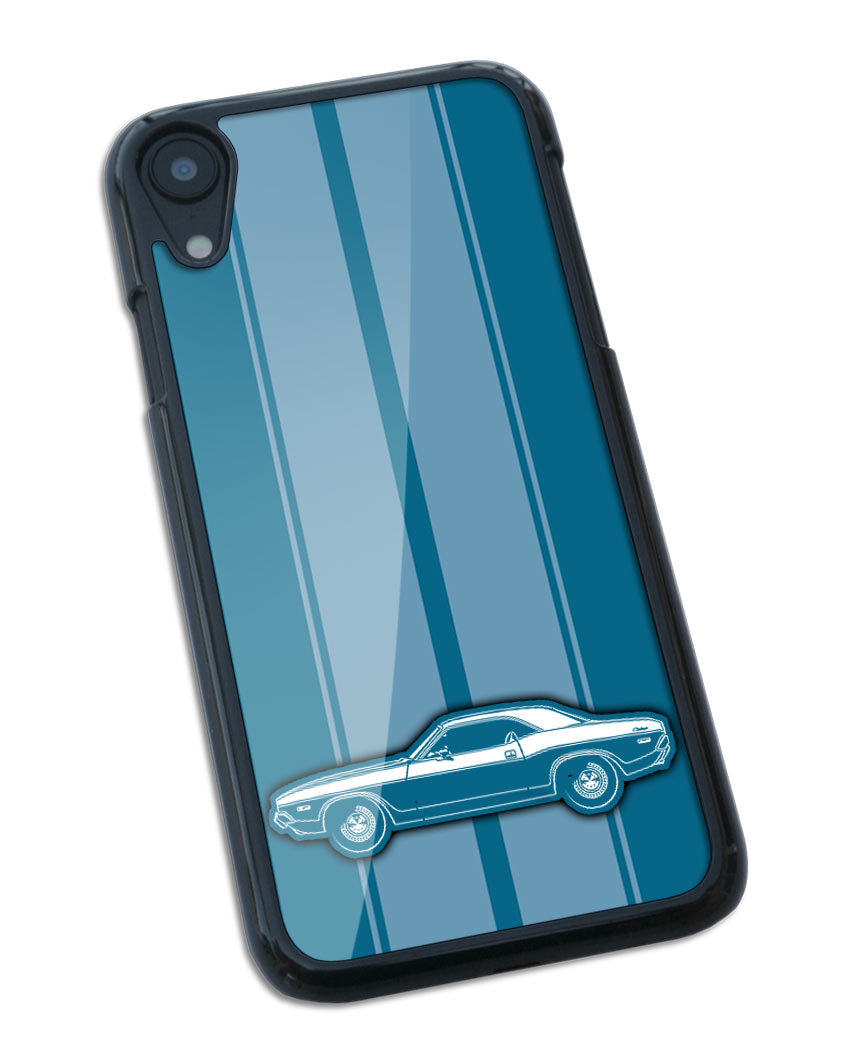 1972 Dodge Challenger Base Coupe Smartphone Case - Racing Stripes