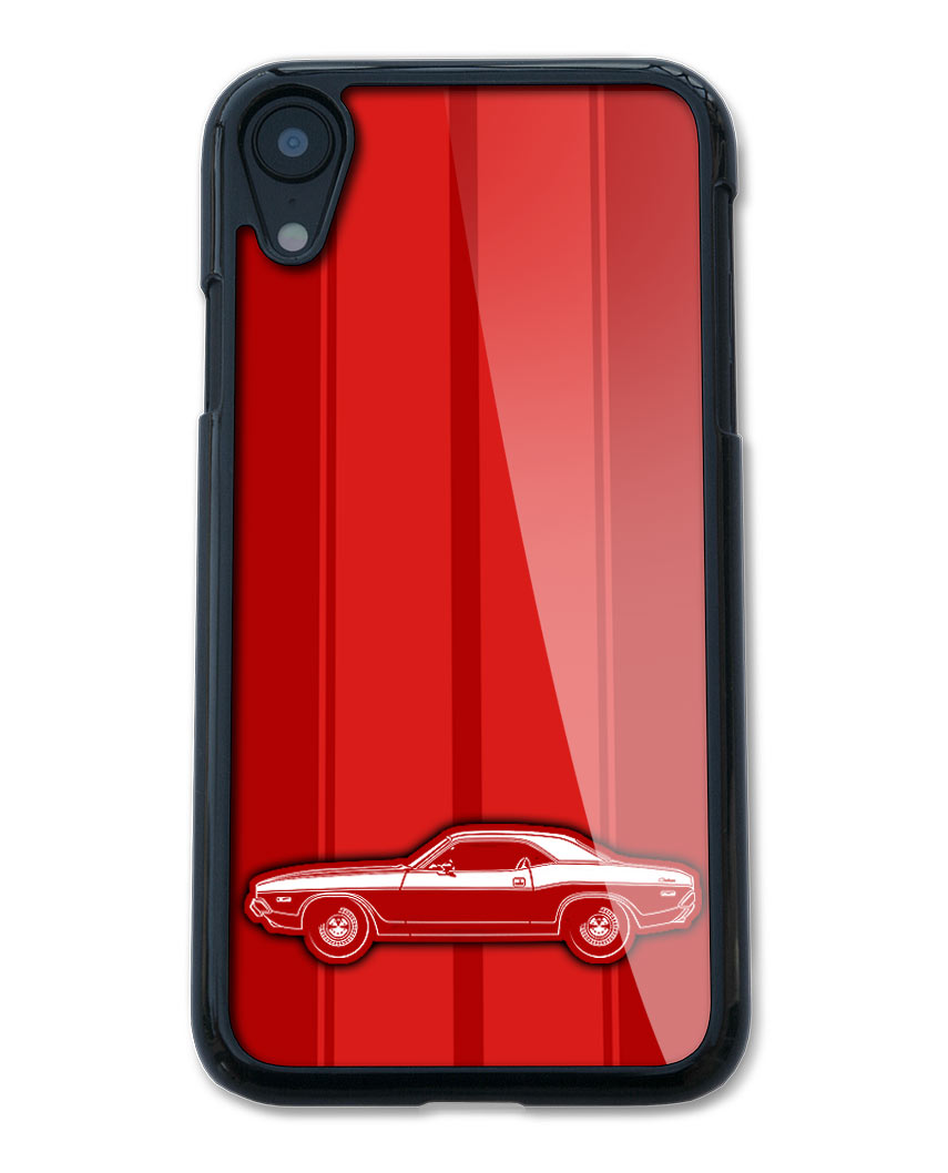 1972 Dodge Challenger Base Hardtop Smartphone Case - Racing Stripes