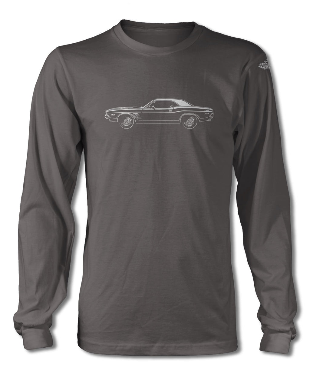 1972 Dodge Challenger Rallye Coupe T-Shirt - Long Sleeves - Side View