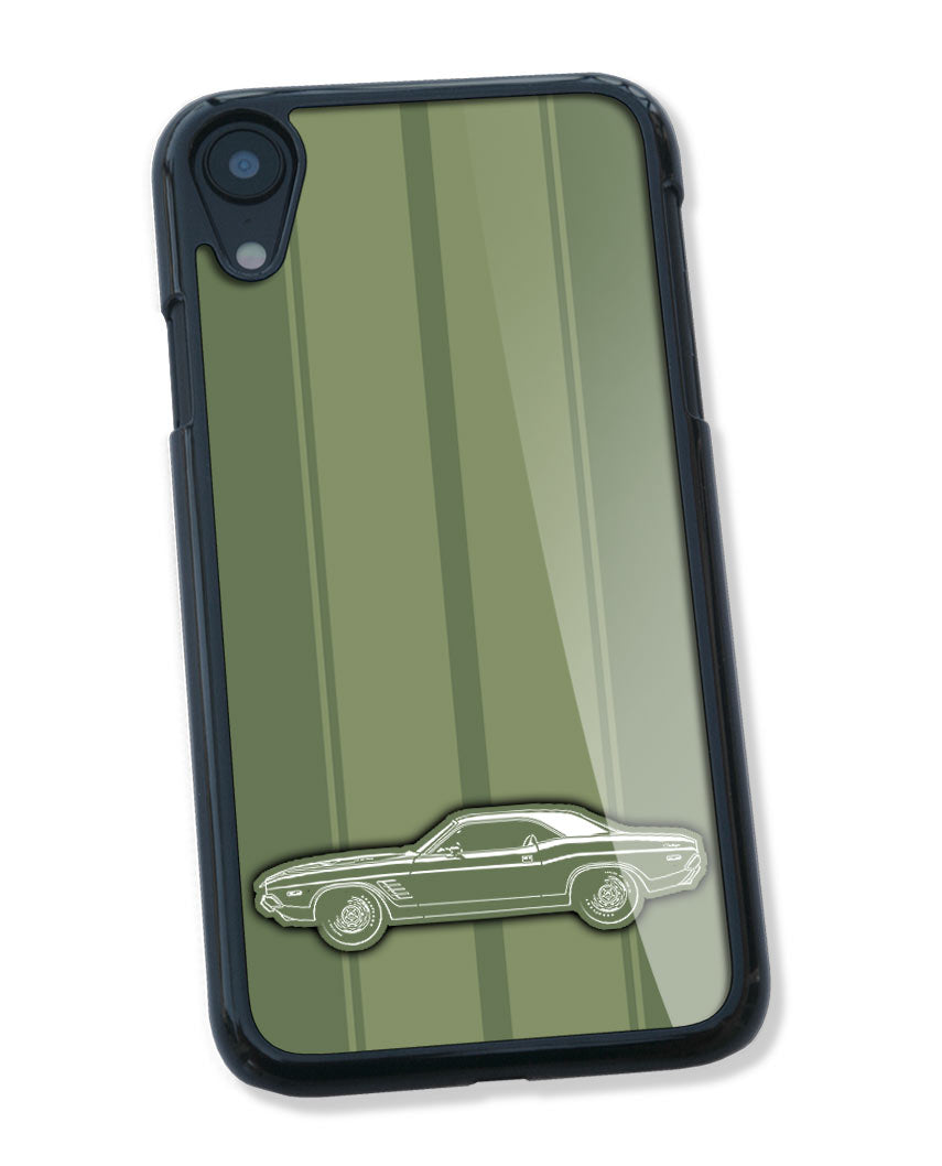 1972 Dodge Challenger Rallye Coupe Smartphone Case - Racing Stripes