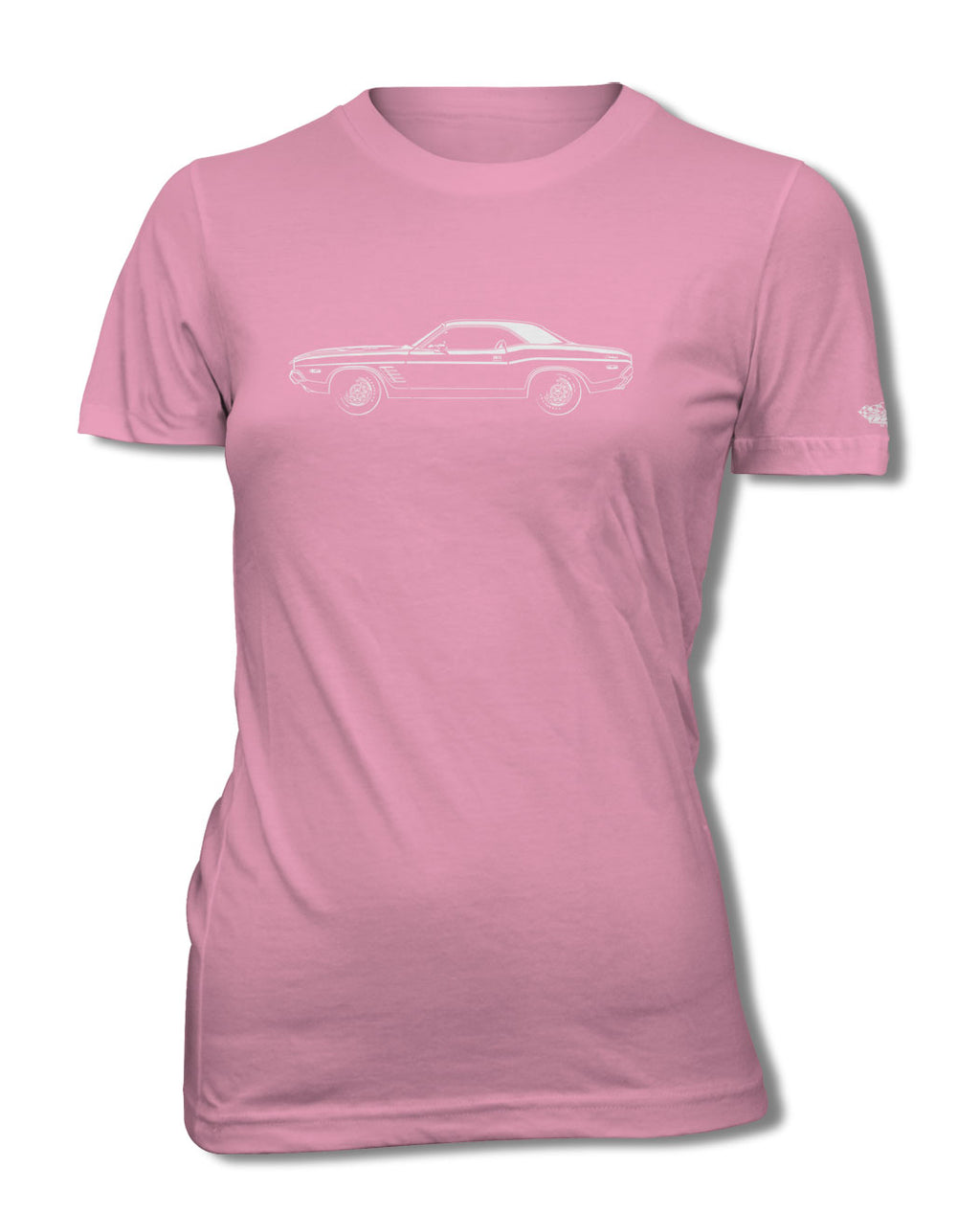 1972 Dodge Challenger Rallye Coupe T-Shirt - Women - Side View