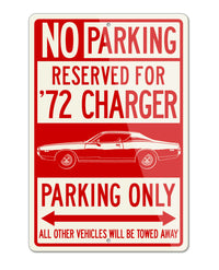 1972 Dodge Charger Base Coupe Parking Only Sign
