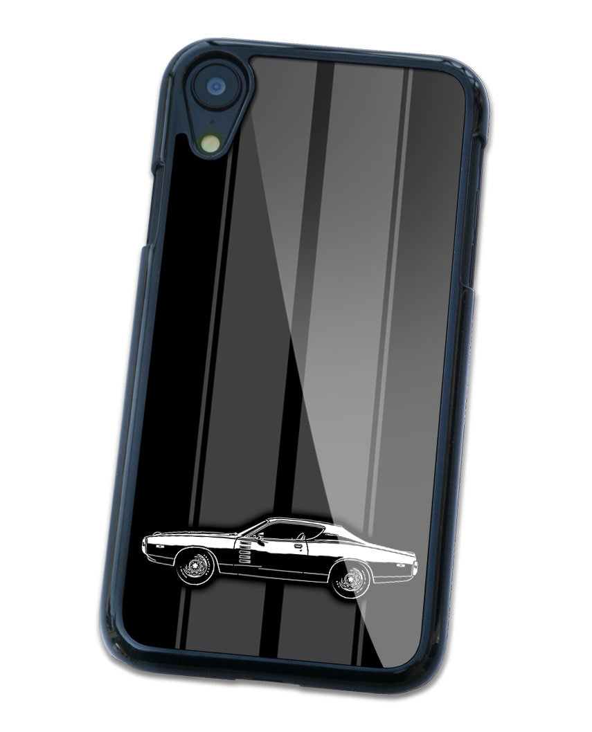 1972 Dodge Charger Rallye Coupe Smartphone Case - Racing Stripes