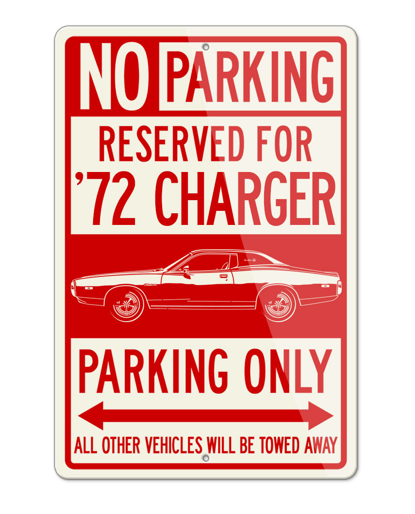 1972 Dodge Charger SE Hardtop Parking Only Sign