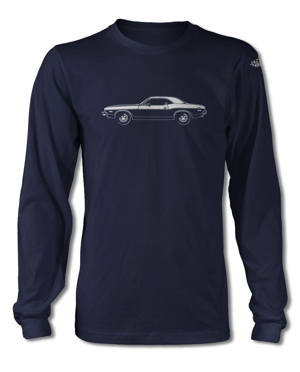 1973 Dodge Challenger Base Coupe T-Shirt - Long Sleeves - Side View