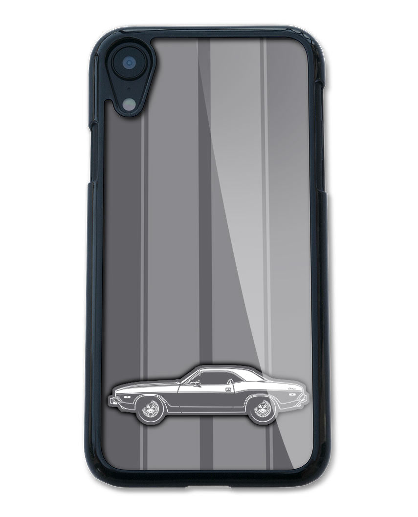 1973 Dodge Challenger Base Coupe Smartphone Case - Racing Stripes