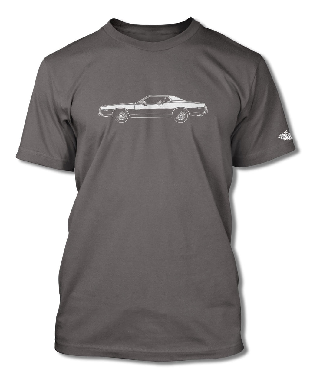 1973 Dodge Charger Rallye 440 Magnum Coupe T-Shirt - Men - Side View