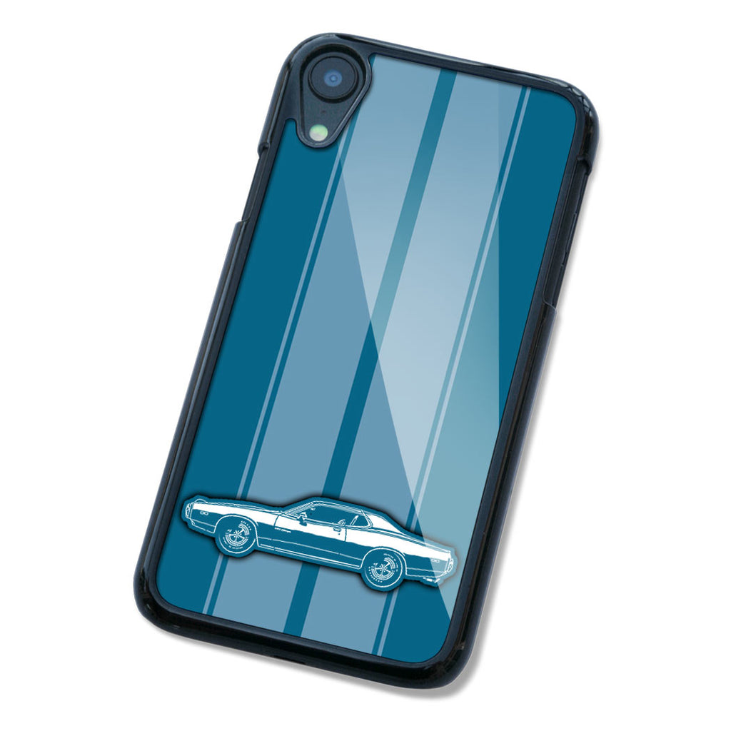 1973 Dodge Charger Rallye 440 Magnum Hardtop Smartphone Case - Racing Stripes