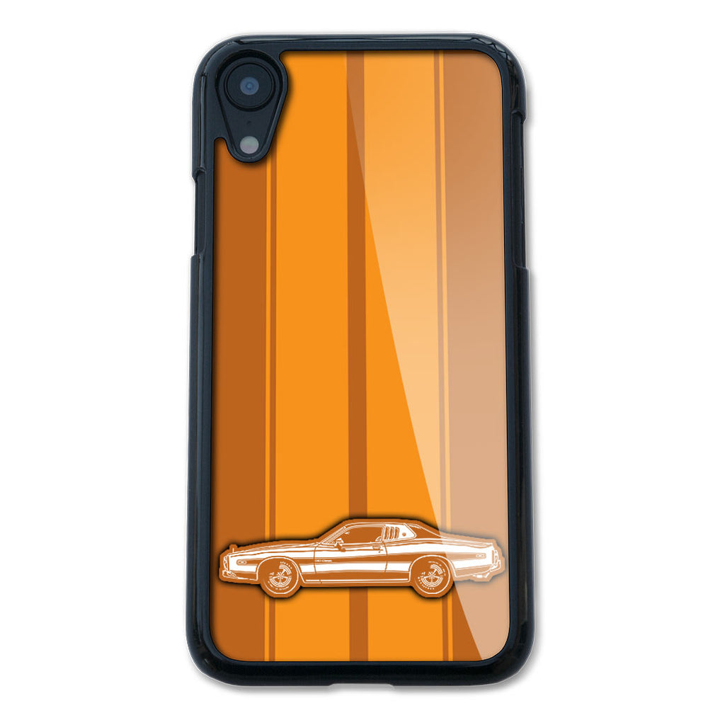 1973 Dodge Charger SE with Stripes Hardtop Smartphone Case - Racing Stripes