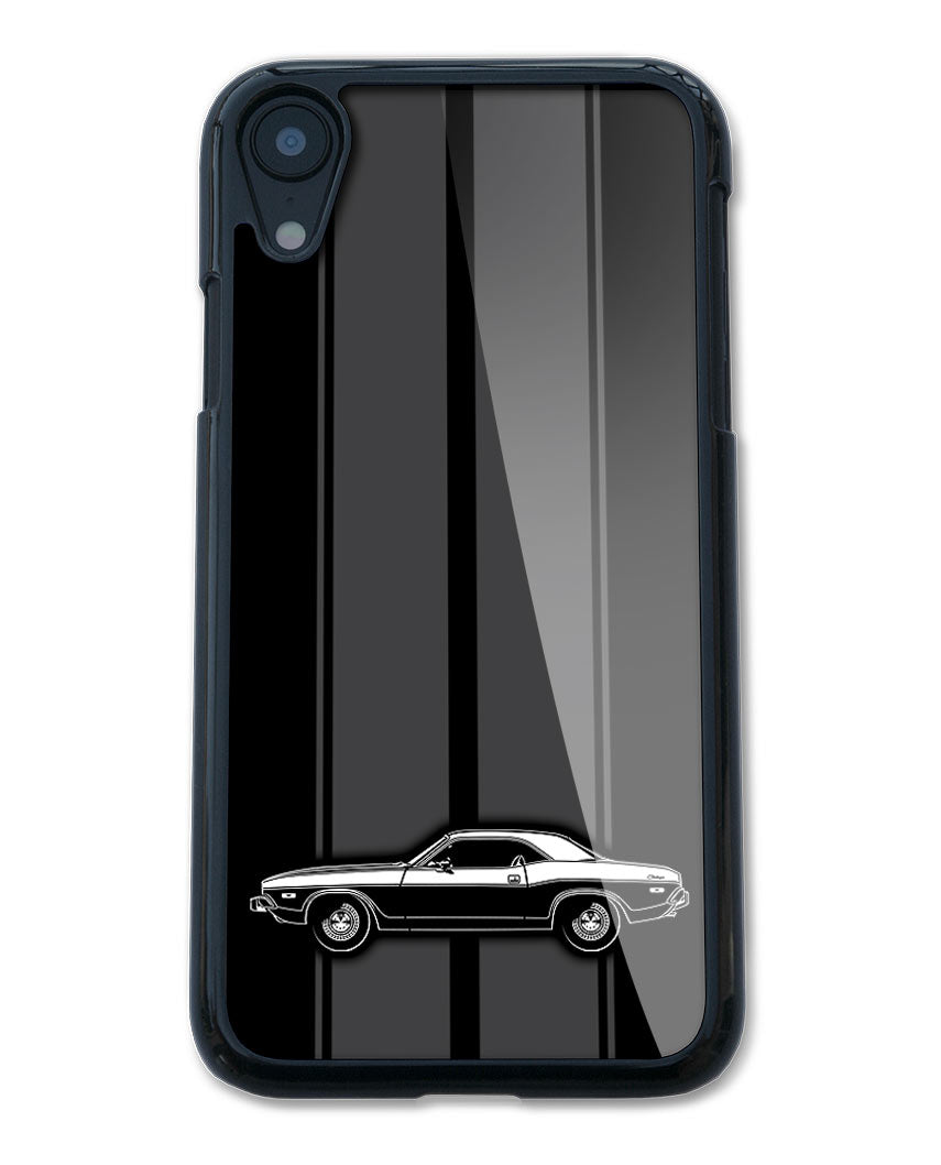 1974 Dodge Challenger Base Coupe Smartphone Case - Racing Stripes