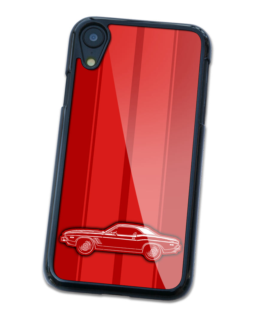1974 Dodge Challenger Rallye Hardtop Smartphone Case - Racing Stripes