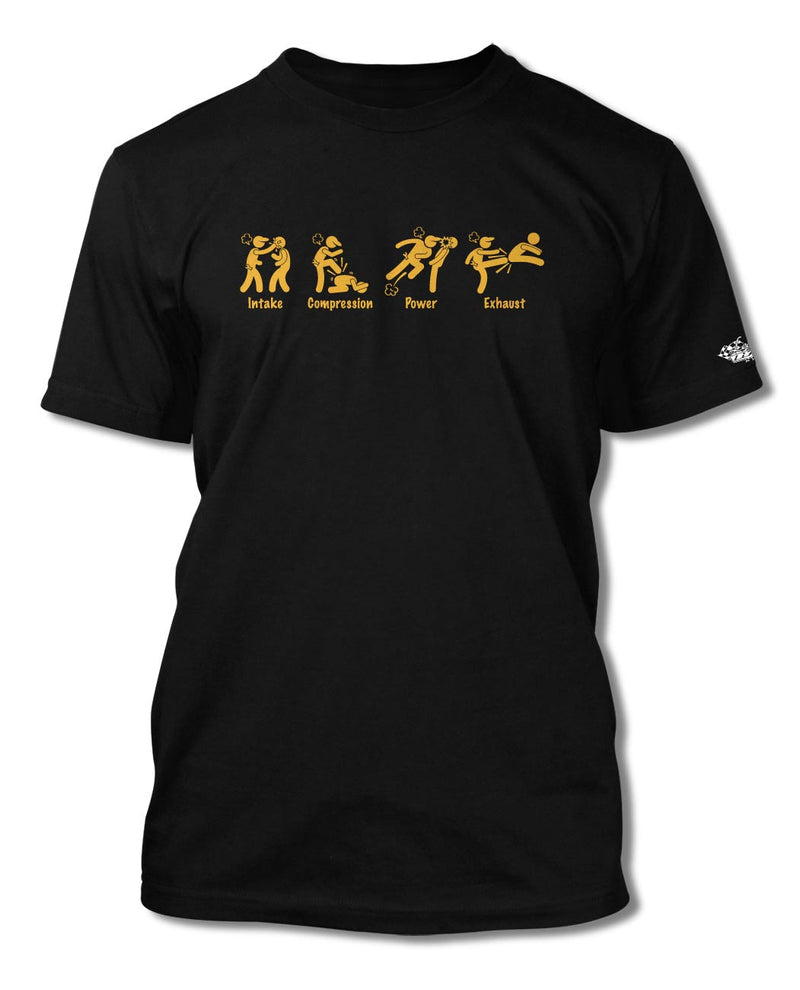 4 Stroke Engine Symbols T-Shirt - Men