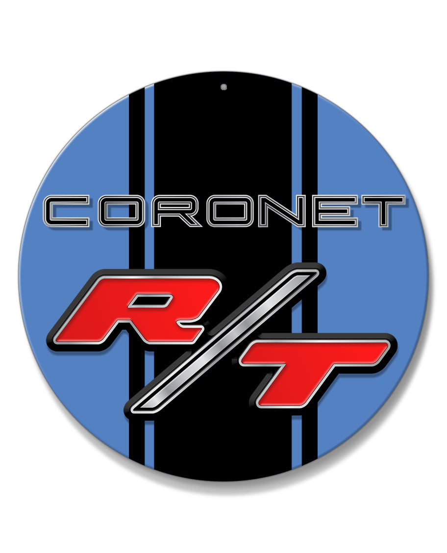 Dodge Coronet RT 1967 - 1968 Emblem Novelty Round Aluminum Sign