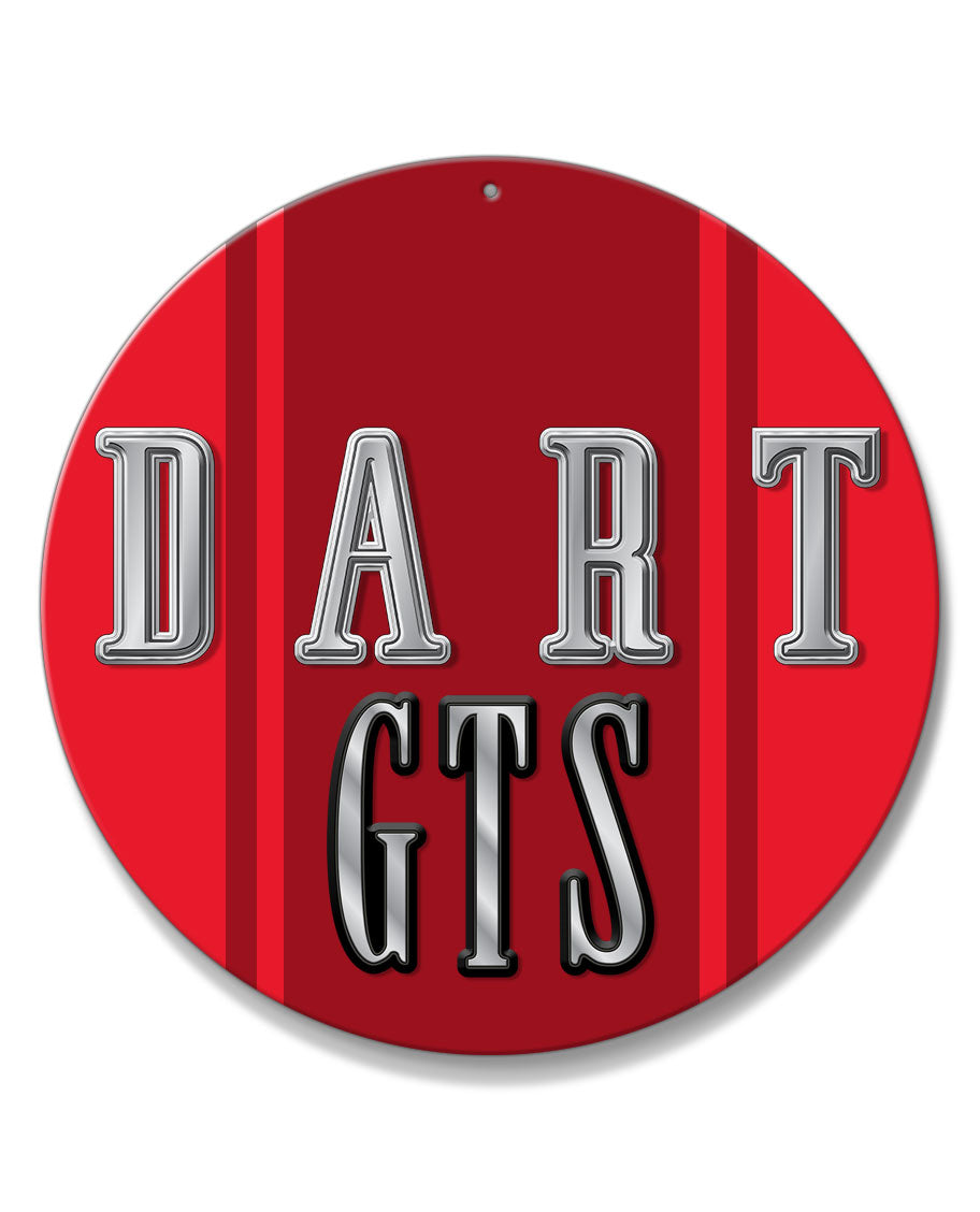 Dodge Dart GTS 1968 Emblem Novelty Round Aluminum Sign