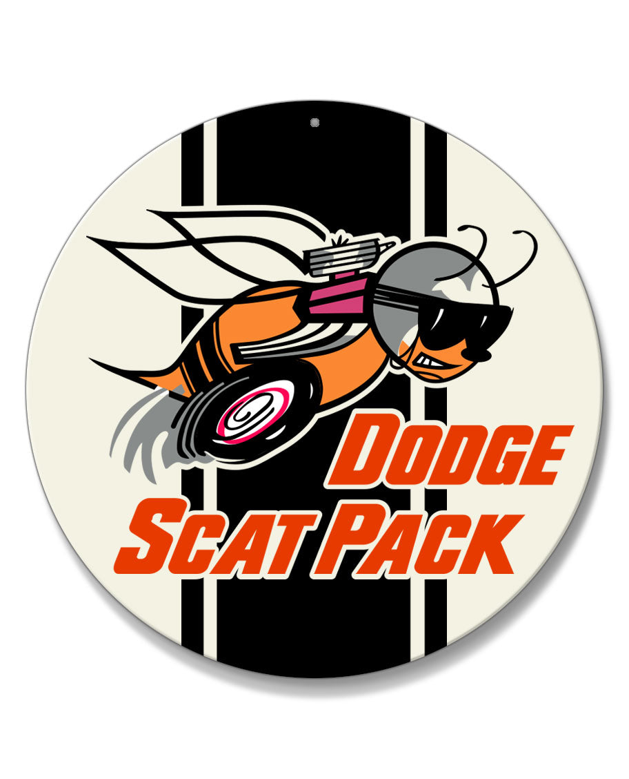 Dodge Scat Pack 1968 Emblem Round Aluminum Sign