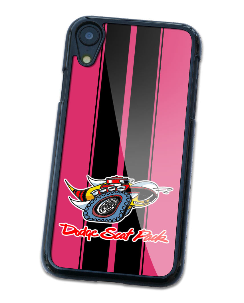 Dodge Scat Pack 1969 Emblem Smartphone Case - Racing Stripes - Logo