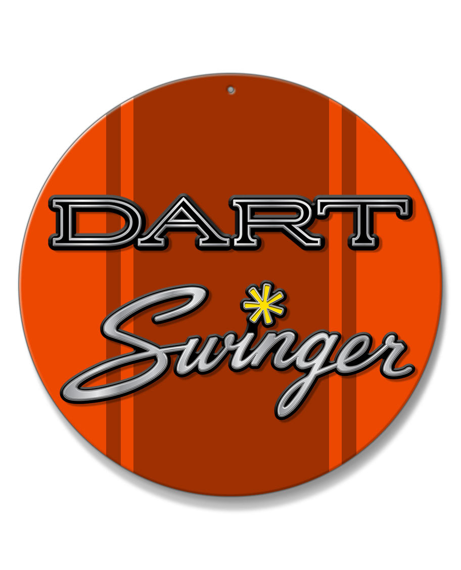 Dodge Dart Swinger 1970 Emblem Novelty Round Aluminum Sign