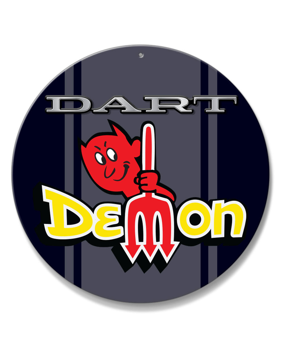 Dodge Dart Demon 1971 Emblem Novelty Round Aluminum Sign