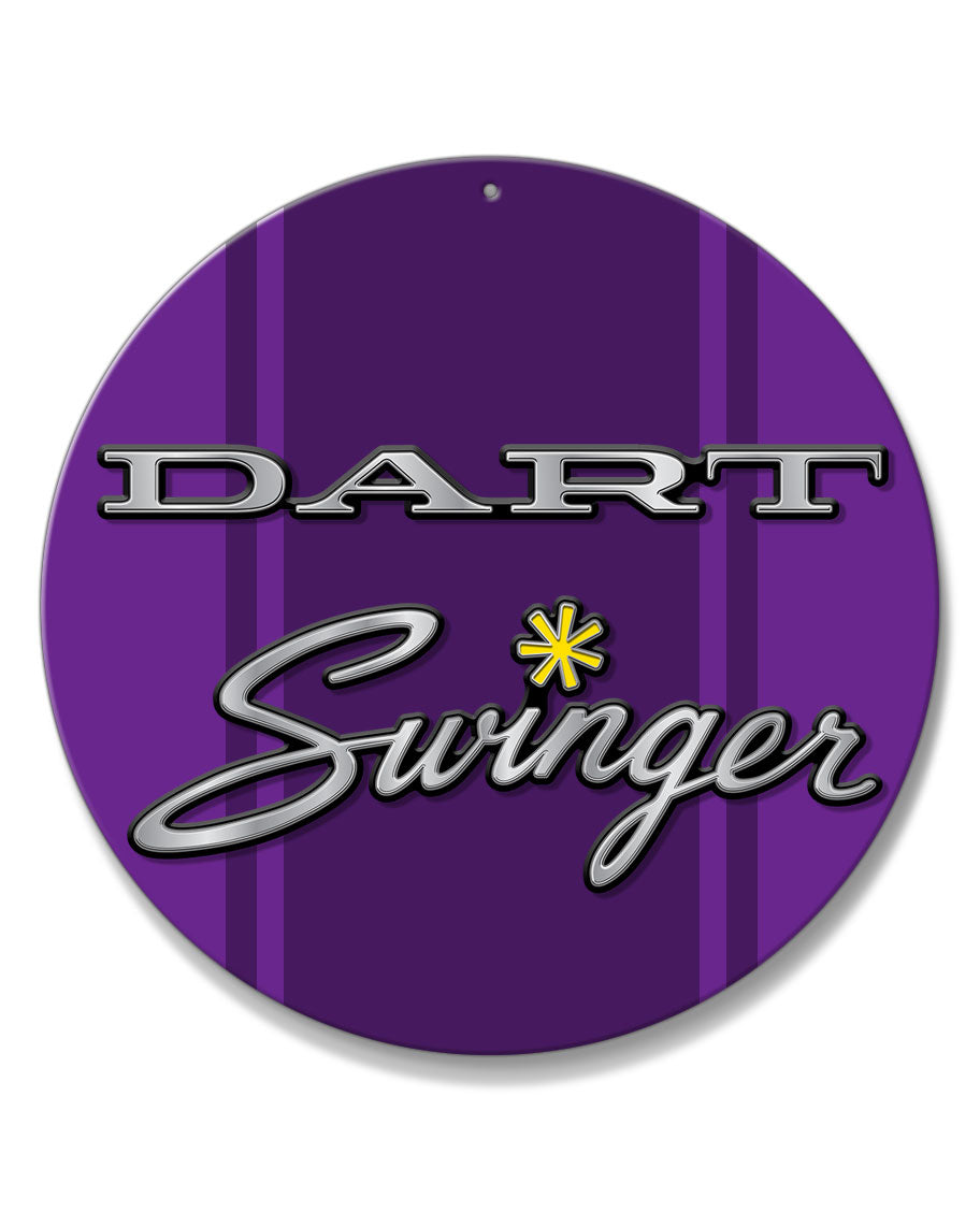 Dodge Dart Swinger 1971 Emblem Novelty Round Aluminum Sign
