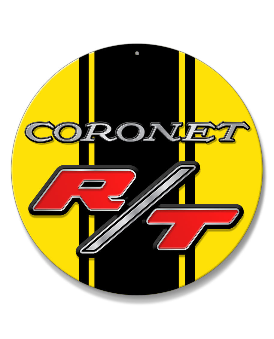 Dodge Coronet RT 1969 - 1970 Emblem Novelty Round Aluminum Sign