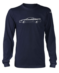 Honda Acura NSX 1990 - 2005 Coupe T-Shirt - Long Sleeves - Side View