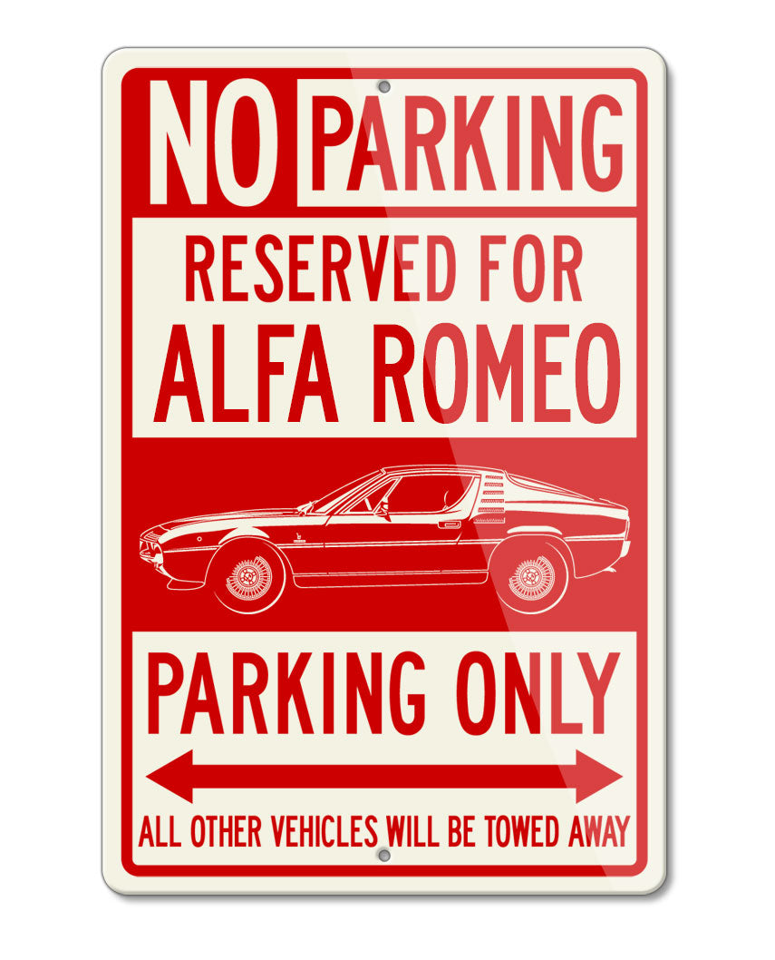 Alfa Romeo Montreal Coupe Reserved Parking Only Sign