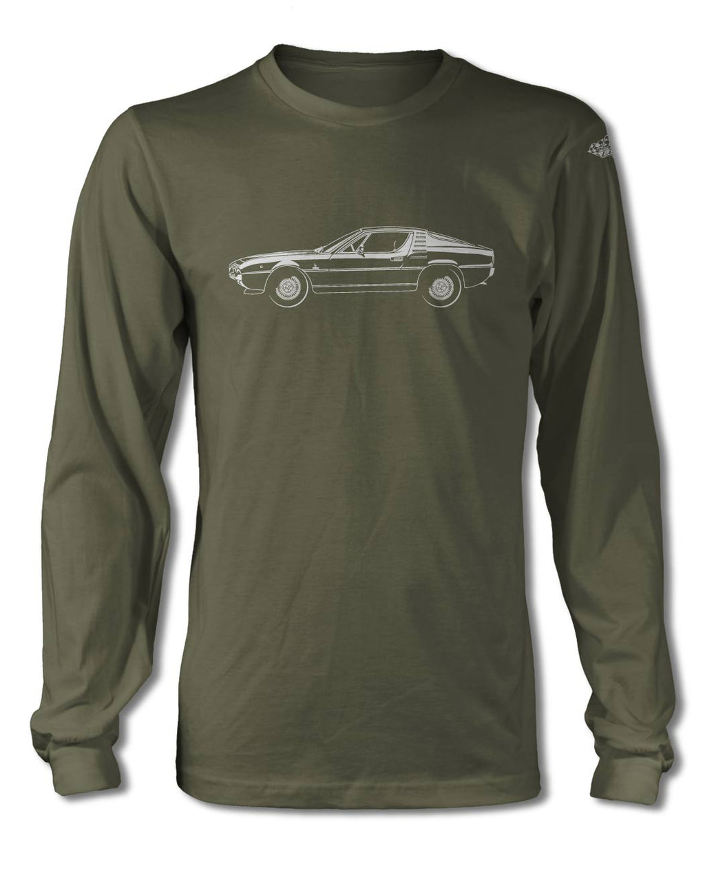 Alfa Romeo Montreal Coupe T-Shirt - Long Sleeves - Side View