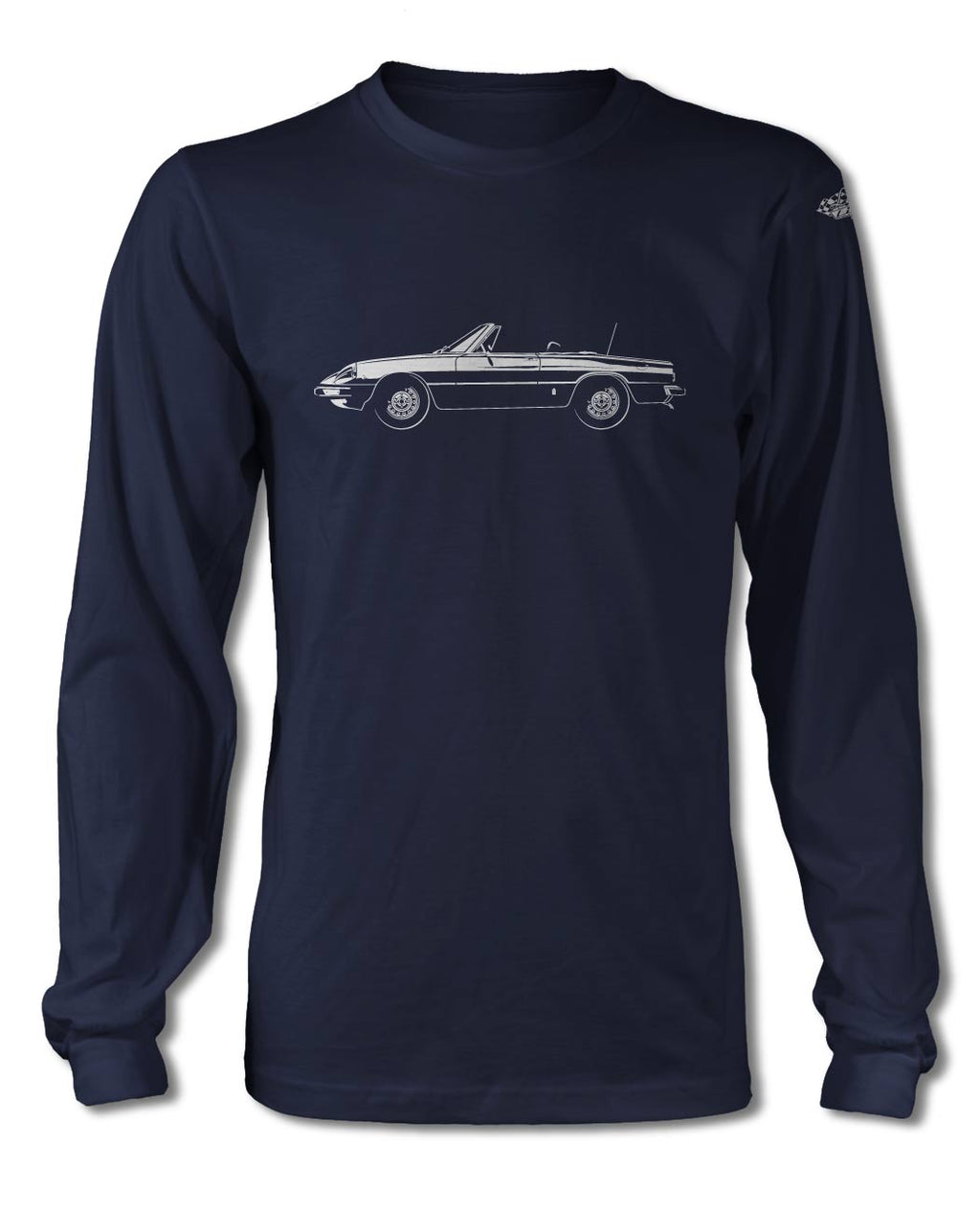 Alfa Romeo Spider Veloce Convertible 1970 - 1982 T-Shirt - Long Sleeves - Side View