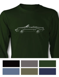 Alfa Romeo Spider Veloce Convertible Graduate 1983 - 1989 Long Sleeve T-Shirt - Side View