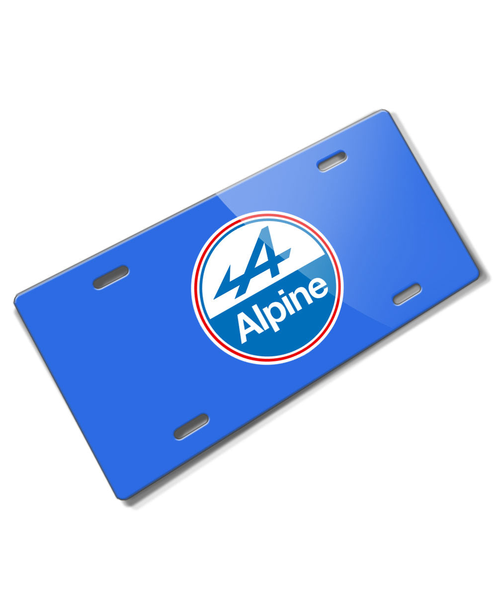 Alpine Renault Badge Emblem Novelty License Plate - Vintage Emblem