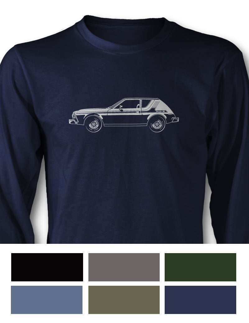 AMC Gremlin X 1976 Long Sleeve T-Shirt - Side View
